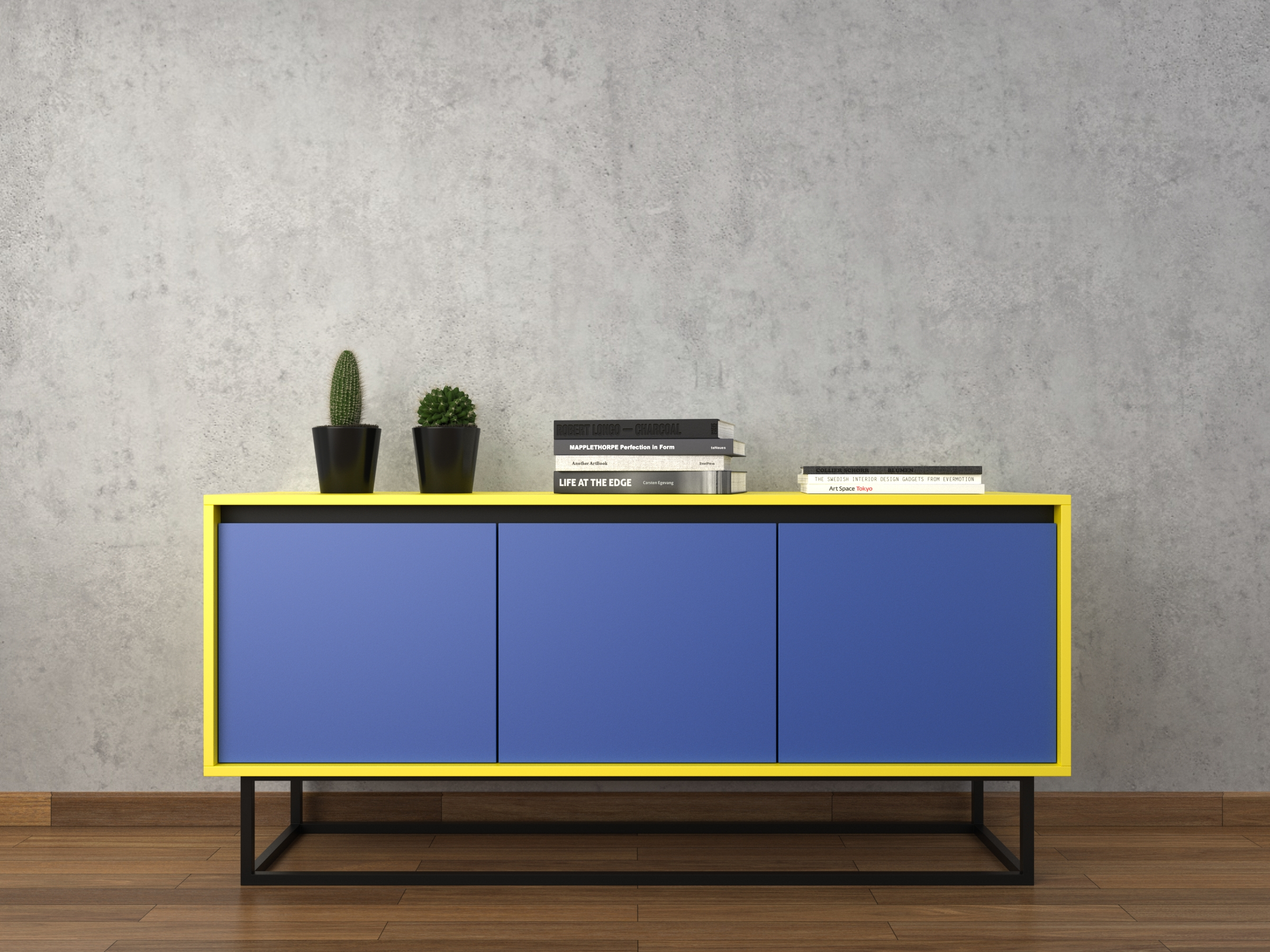 Furniture: Modern Sideboards With Blue Paint Also Glass Buffet within Sideboards For Living Room (Image 12 of 30)
