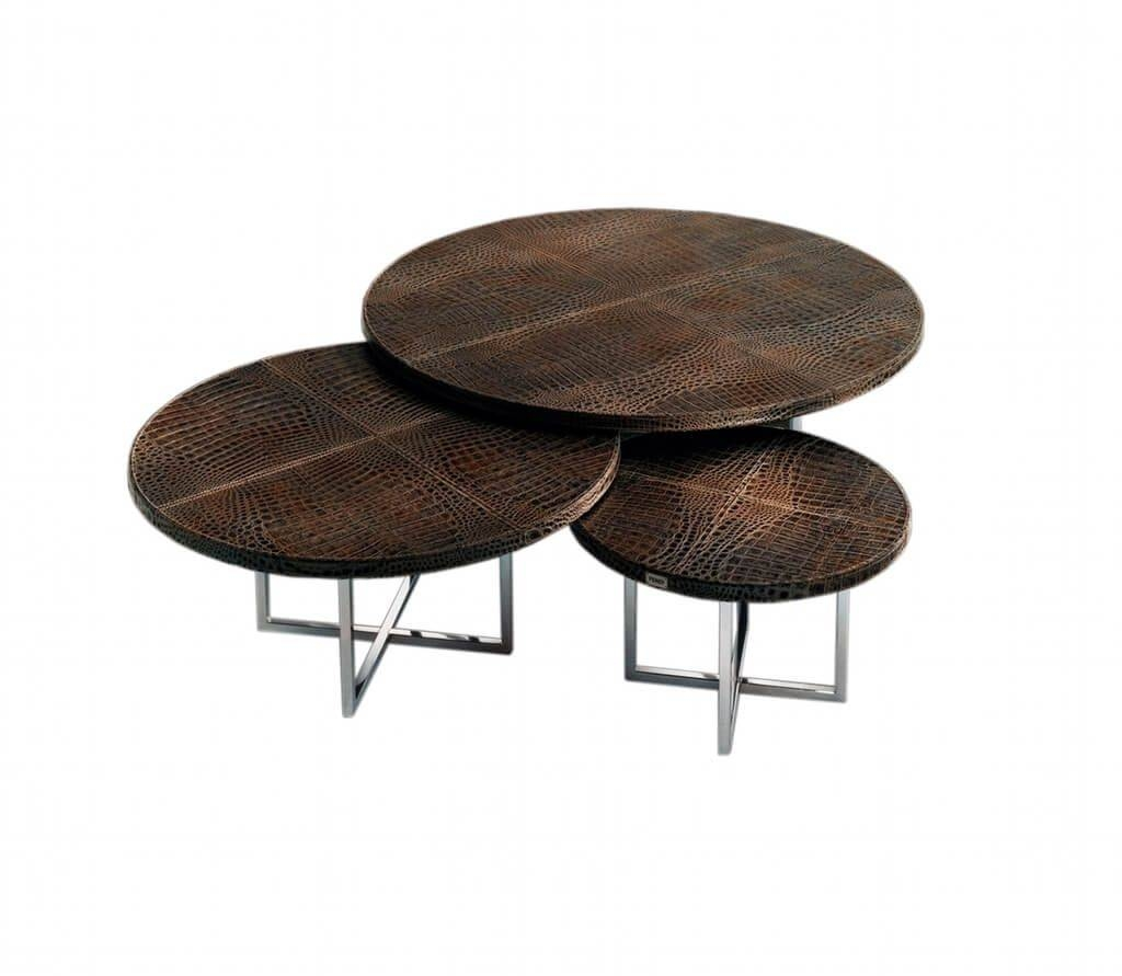 Furniture: Modern Small Round Coffee Table With Sliding Storage Throughout Small Round Coffee Tables (View 17 of 30)