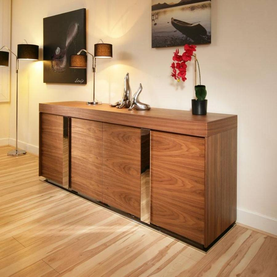 Furniture: Narrow Buffet Cabinet With Modern Sideboard Also pertaining to Contemporary Sideboard Cabinets (Image 17 of 30)