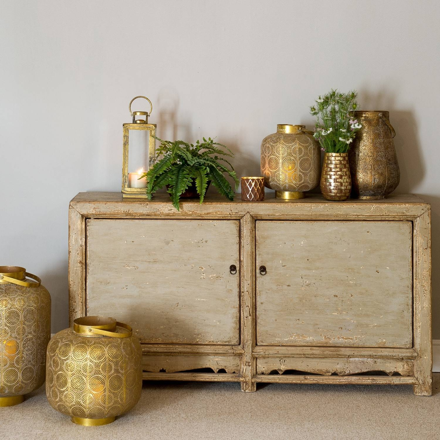 Furniture: Narrow Buffet Table | Wooden Hutch | Distressed Sideboard regarding Distressed Wood Sideboards (Image 10 of 30)