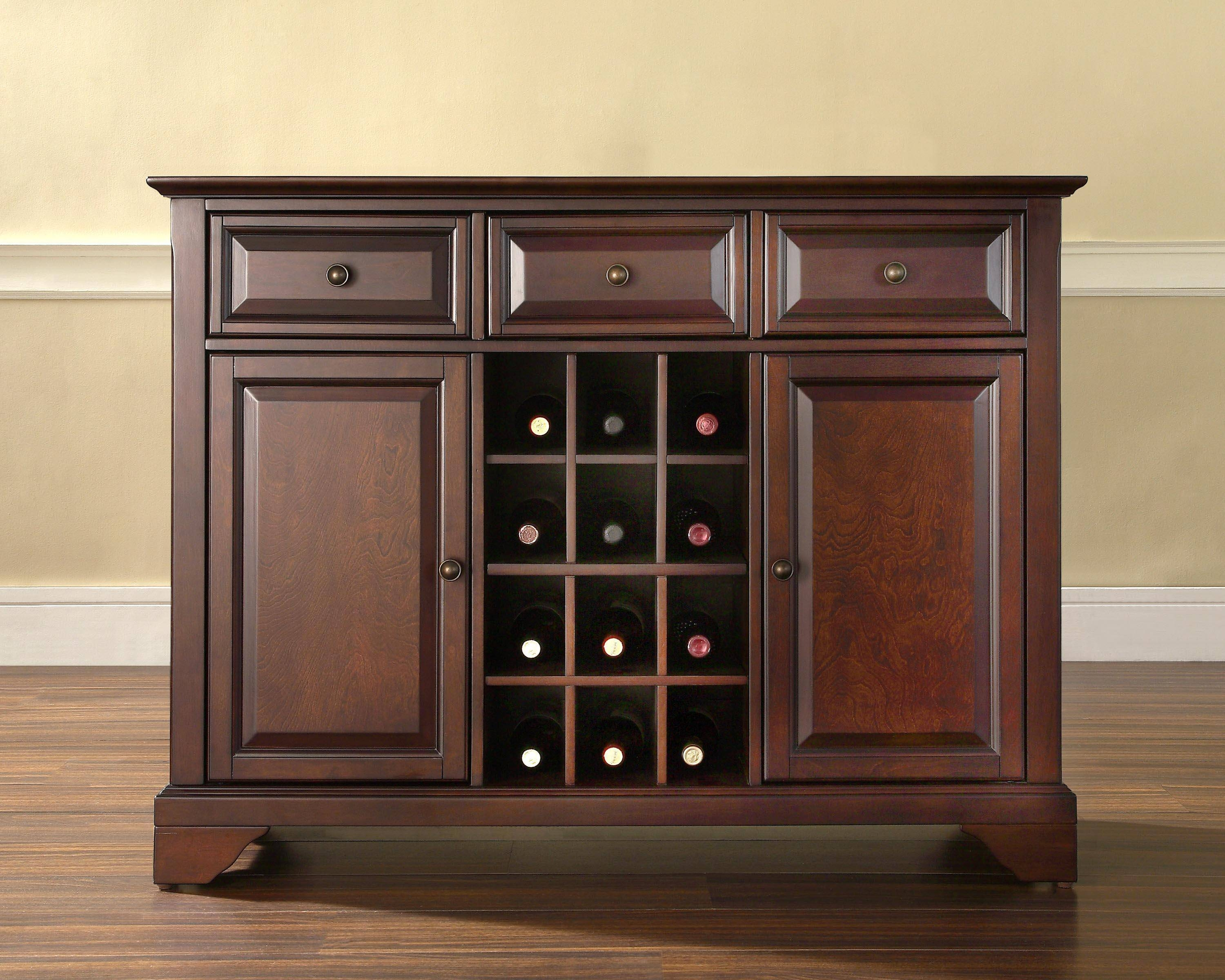 Furniture: Narrow Sideboard | Mirrored Buffet Cabinet | Buffets pertaining to Small Mirrored Sideboards (Image 9 of 30)