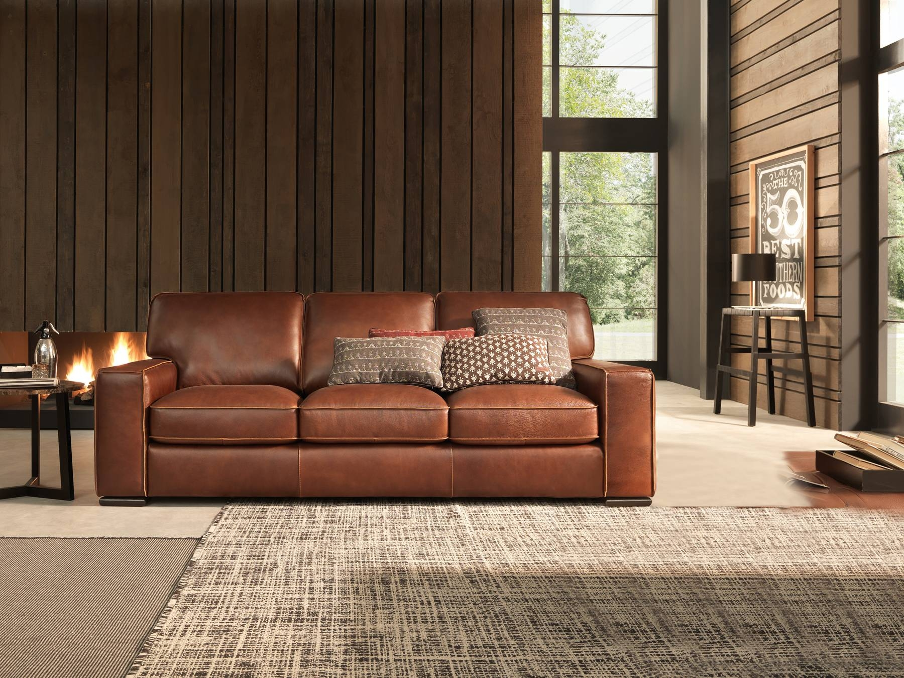 Furniture: Natuzzi Leather Couch | Traditional Leather Sofa within Traditional Leather Couch (Image 10 of 30)
