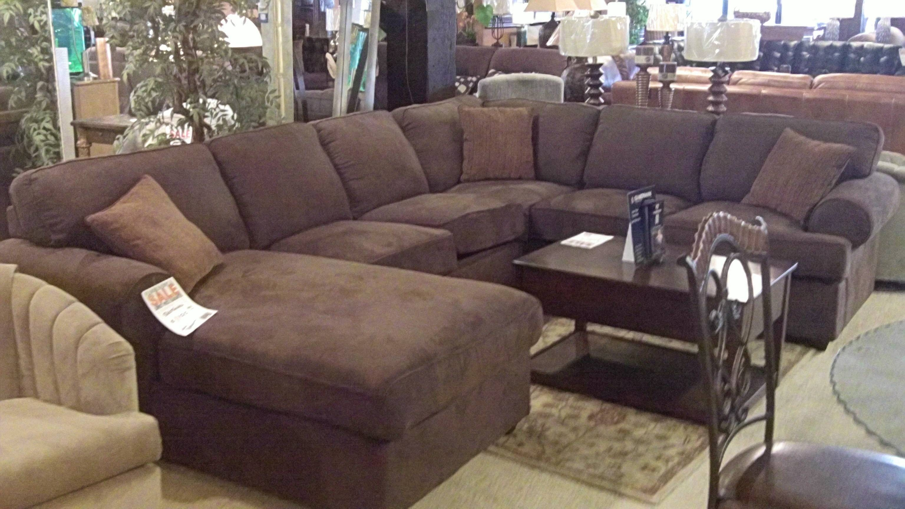Furniture: Nice Extra Large Sectional Sofa For Large Living Room inside Sectional Sofa With Oversized Ottoman (Image 14 of 30)