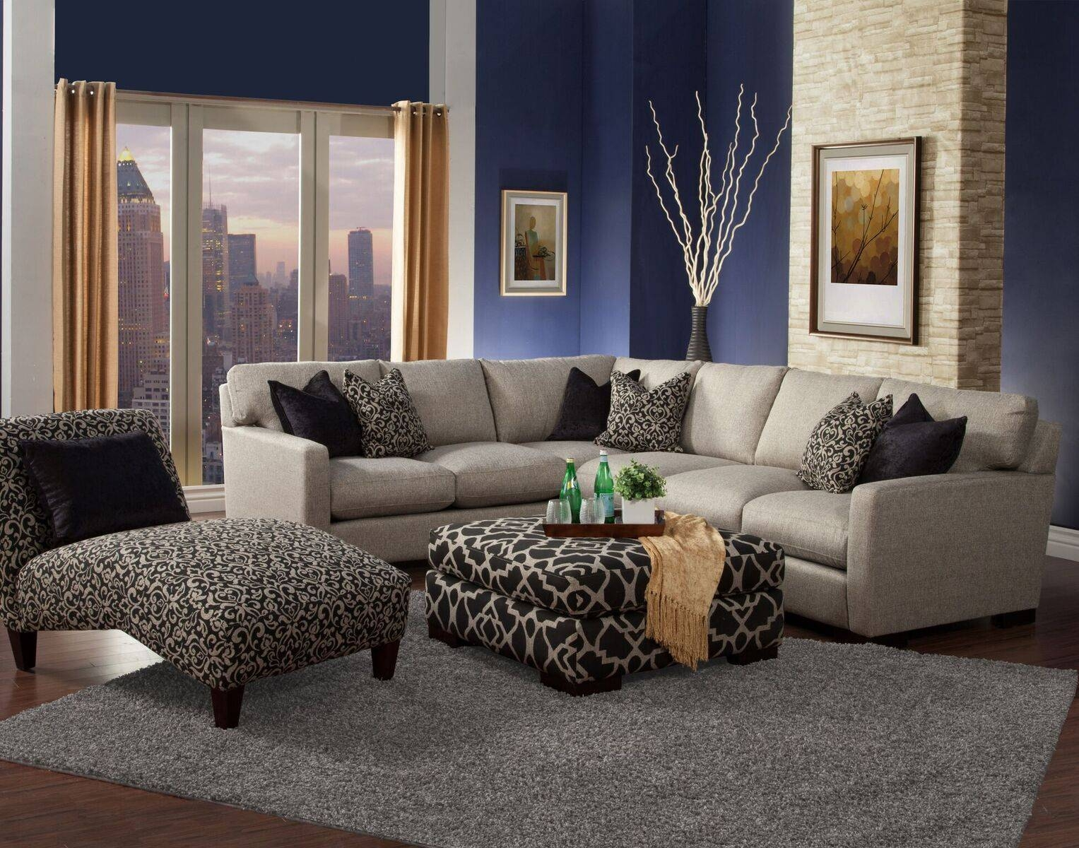 Furniture: Nice Interior Furniture Designrobert Michaels with regard to Goose Down Sectional Sofa (Image 7 of 25)