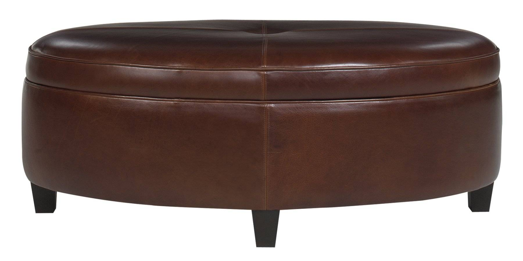 Furniture: Nice Oversized Ottoman For Living Room Furniture Idea pertaining to Round Upholstered Coffee Tables (Image 17 of 30)