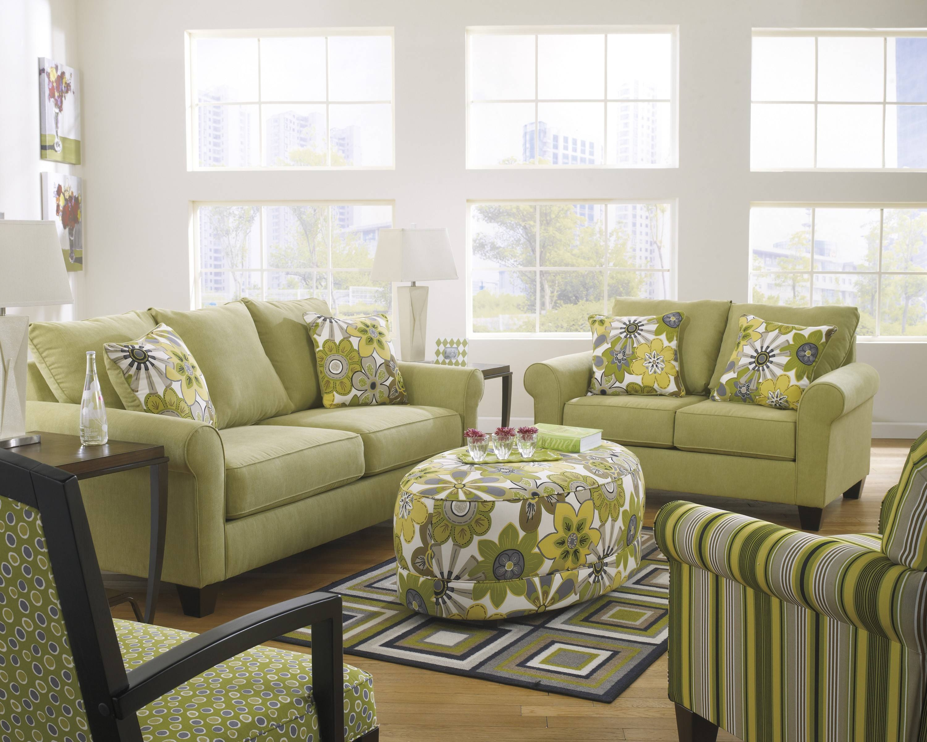 Furniture: Nice Oversized Ottoman For Living Room Furniture Idea with regard to Green Ottoman Coffee Tables (Image 13 of 30)