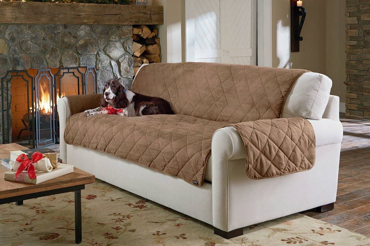 Furniture: Nice Waterproof Couch Cover For Shield Your Furniture intended for Sofa Settee Covers (Image 14 of 30)