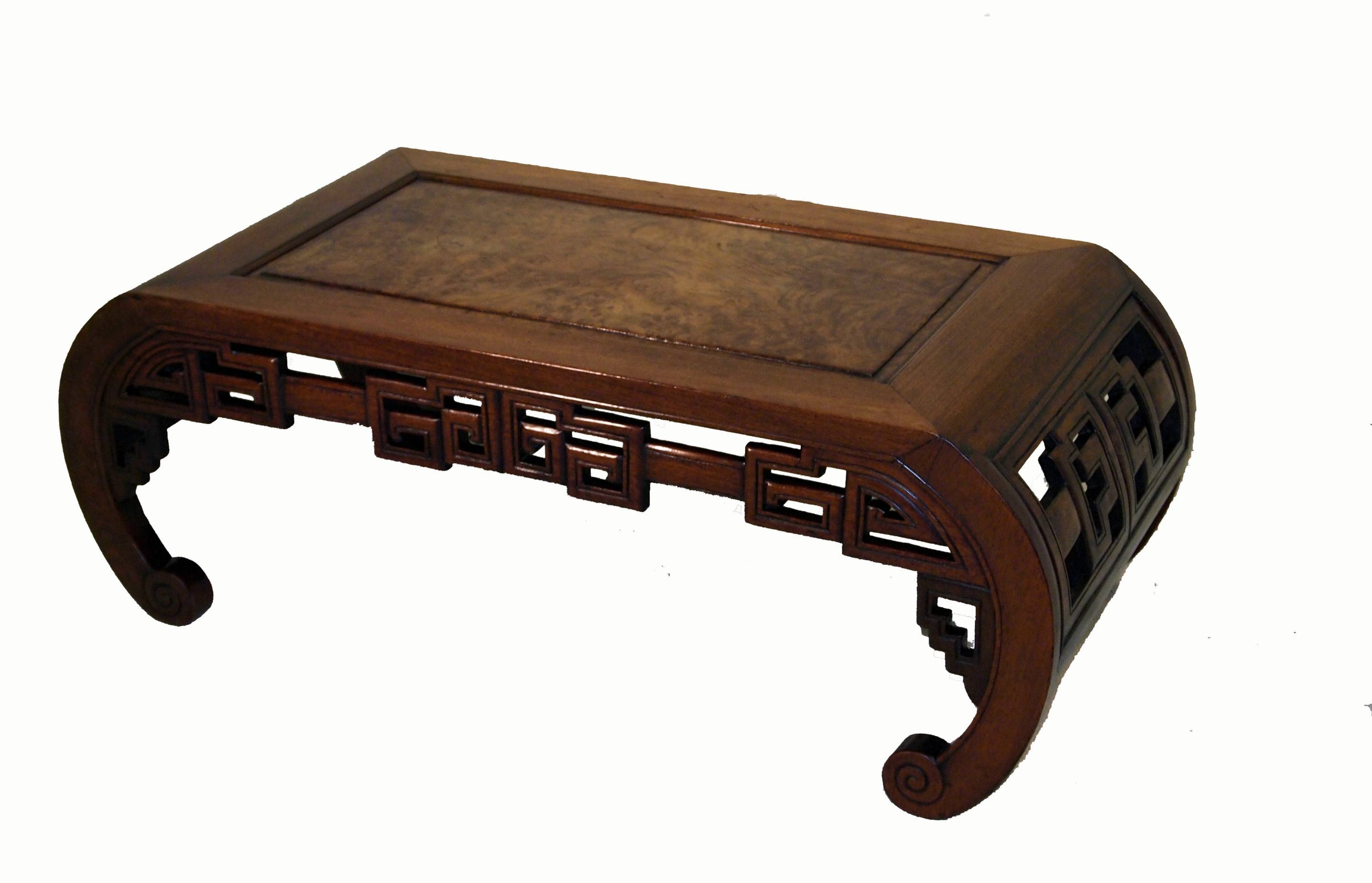 Furniture. Oriental Coffee Table Ideas: Dark Brown Rectangle with Asian Coffee Tables (Image 17 of 30)