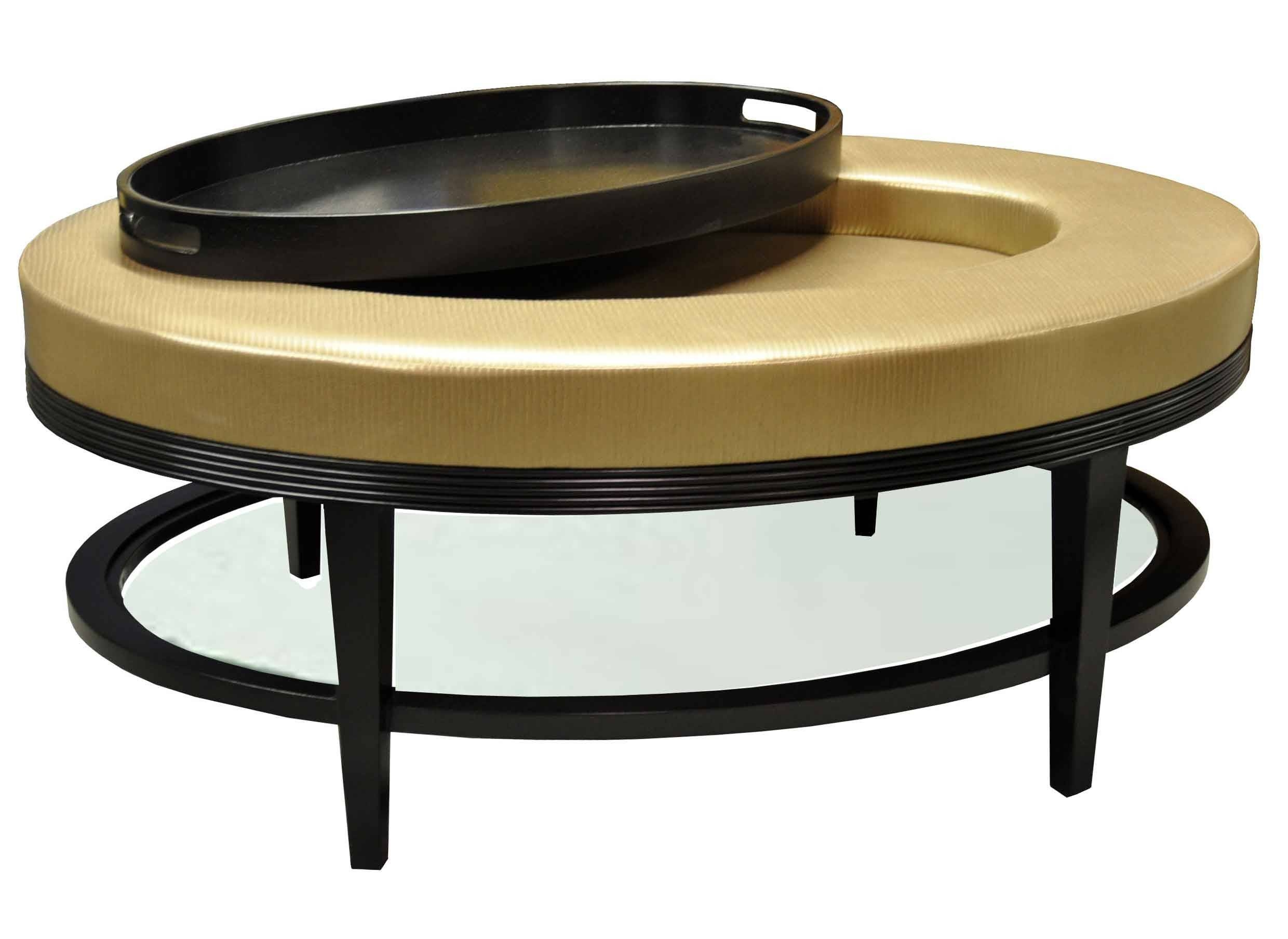 Furniture. Ottoman Coffee Table Tray Ideas: Black Oval Modern Wood with Black Oval Coffee Table (Image 18 of 30)