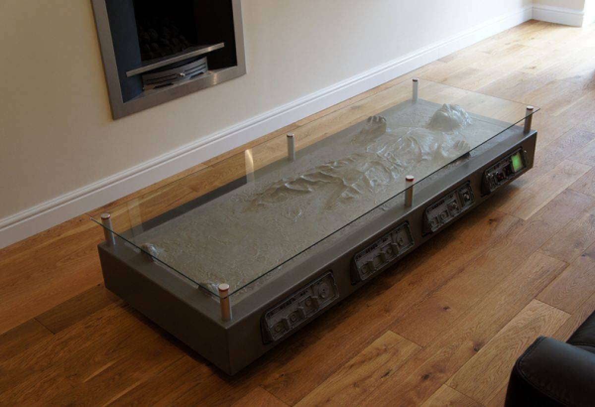 Furniture. Outstanding Star Wars Coffee Table Design Ideas: Grey throughout Unusual Glass Coffee Tables (Image 14 of 30)