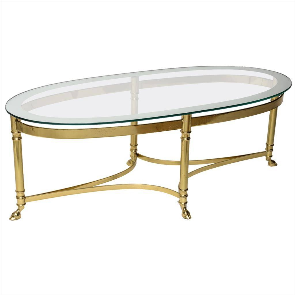 Furniture: Oval Glass Coffee Table For Living Room Oval Glass Top throughout Antique Glass Coffee Tables (Image 19 of 30)