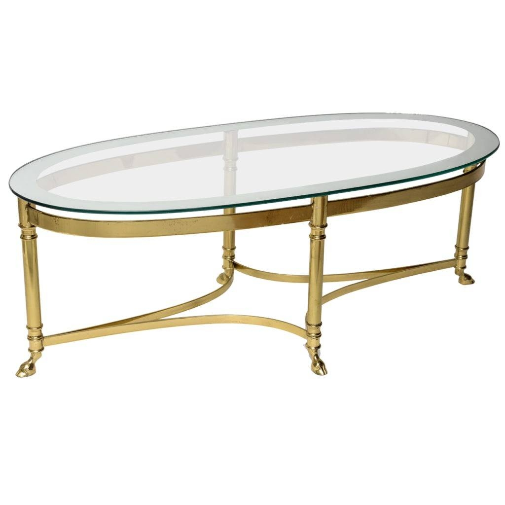 Furniture: Oval Glass Top Coffee Table Ideas Oval Metal Coffee for Antique Glass Top Coffee Tables (Image 22 of 30)