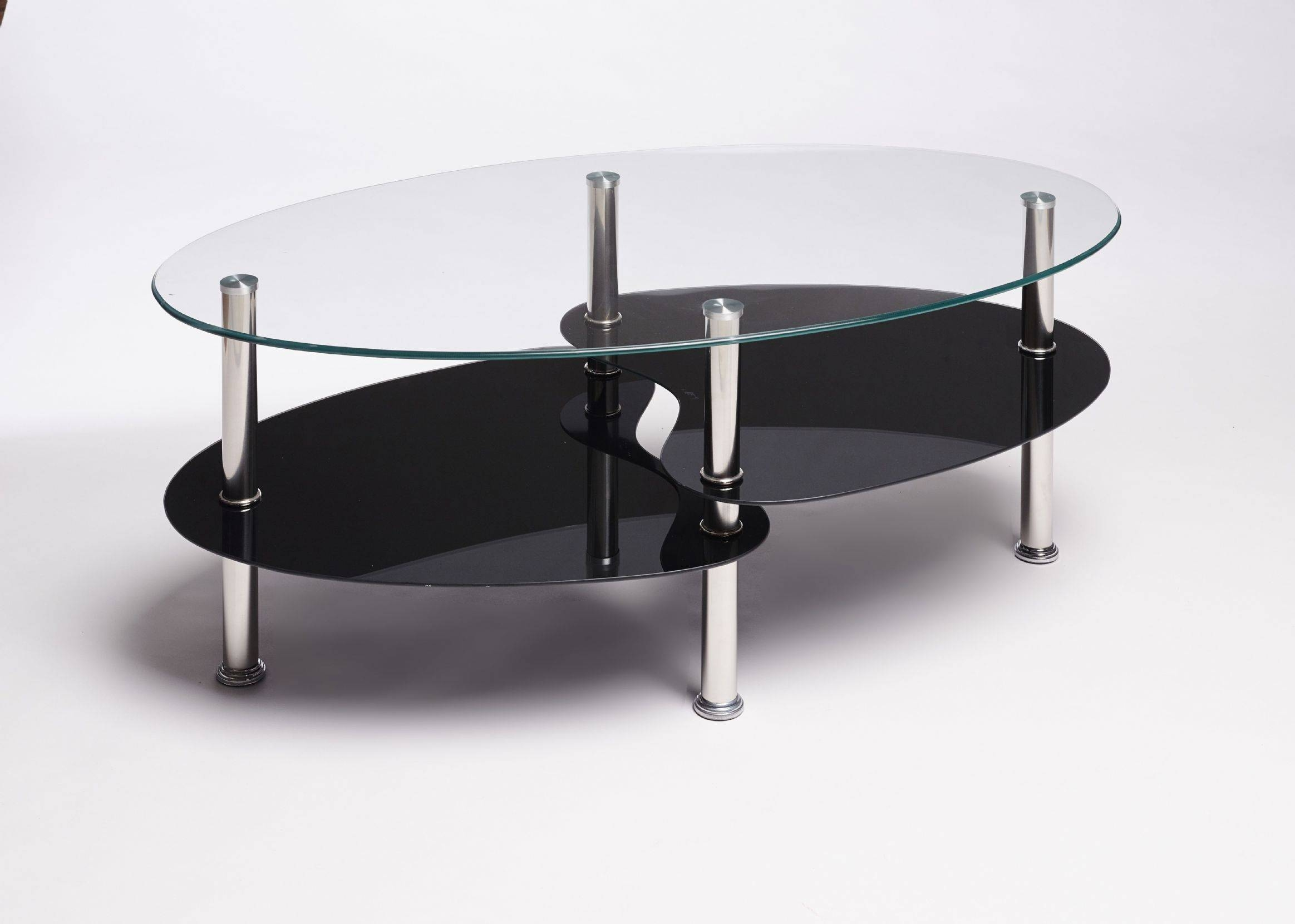 Furniture: Oval Glass Top Coffee Table | Oval Coffee Table Glass regarding Dark Glass Coffee Tables (Image 22 of 30)