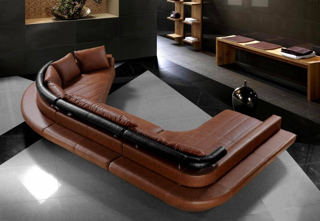 Furniture: Oversized C Shape Leather Sectional Sofa ~ Wayne Home Decor with C Shaped Sofa (Image 18 of 30)