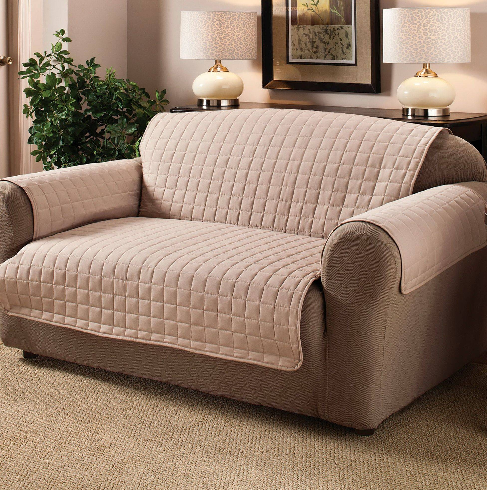 Furniture: Oversized Chair Slipcovers To Keep Your Furniture Clean in Sofa Loveseat Slipcovers (Image 13 of 30)