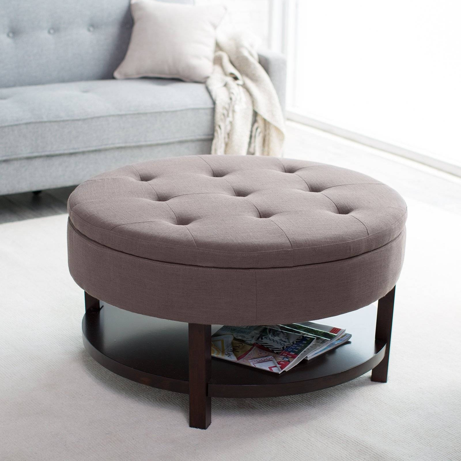 Furniture: Padded Ottoman With Storage | Ottomans For Sale throughout Footstool Coffee Tables (Image 15 of 30)