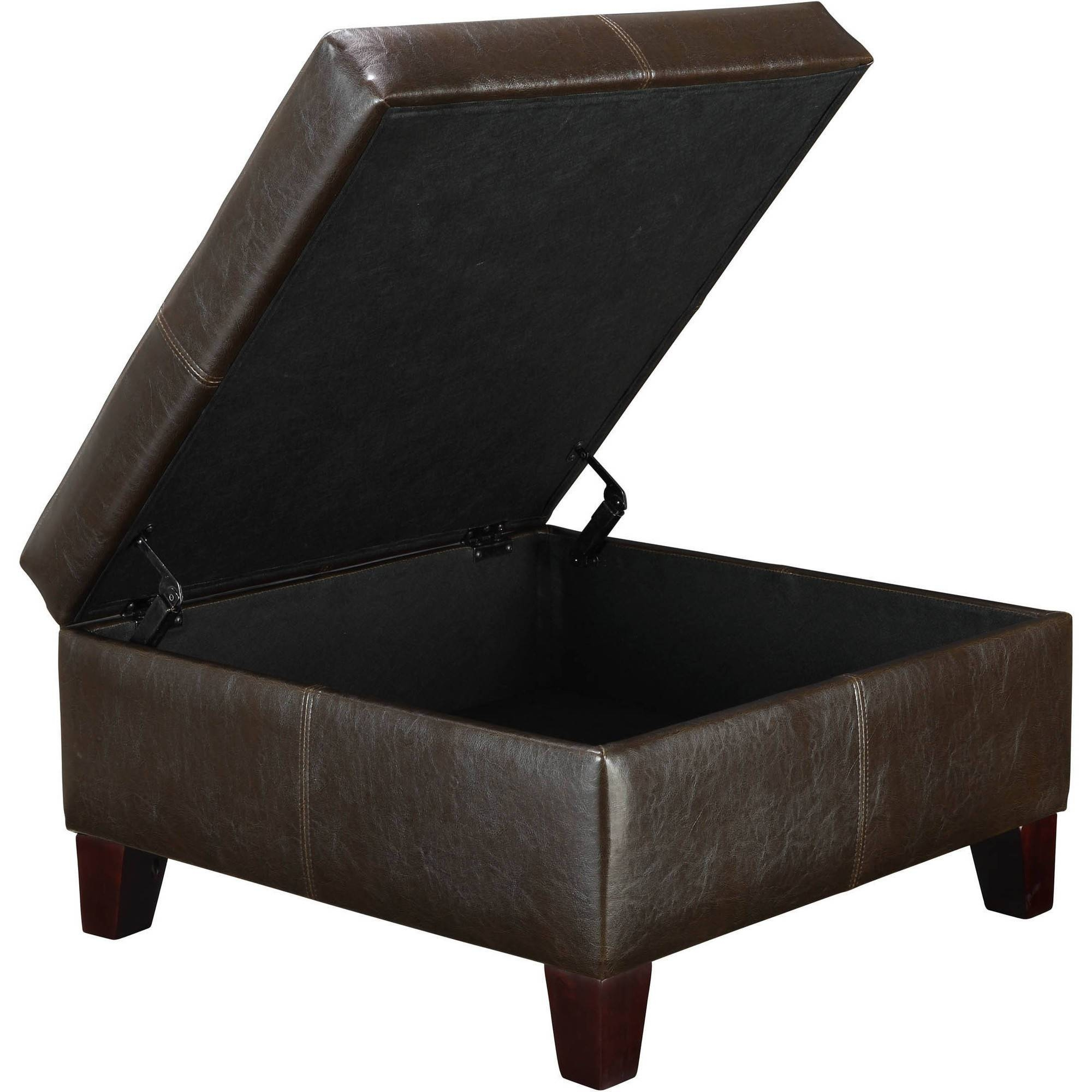 Furniture : Pleasant Brown Leather Ottoman Coffee Table Leather with Brown Leather Ottoman Coffee Tables (Image 18 of 30)