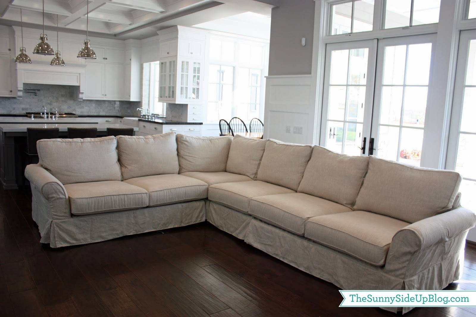Furniture: Pottery Barn Sectional To Create Your Perfect Seating intended for Comfy Sectional Sofa (Image 19 of 30)