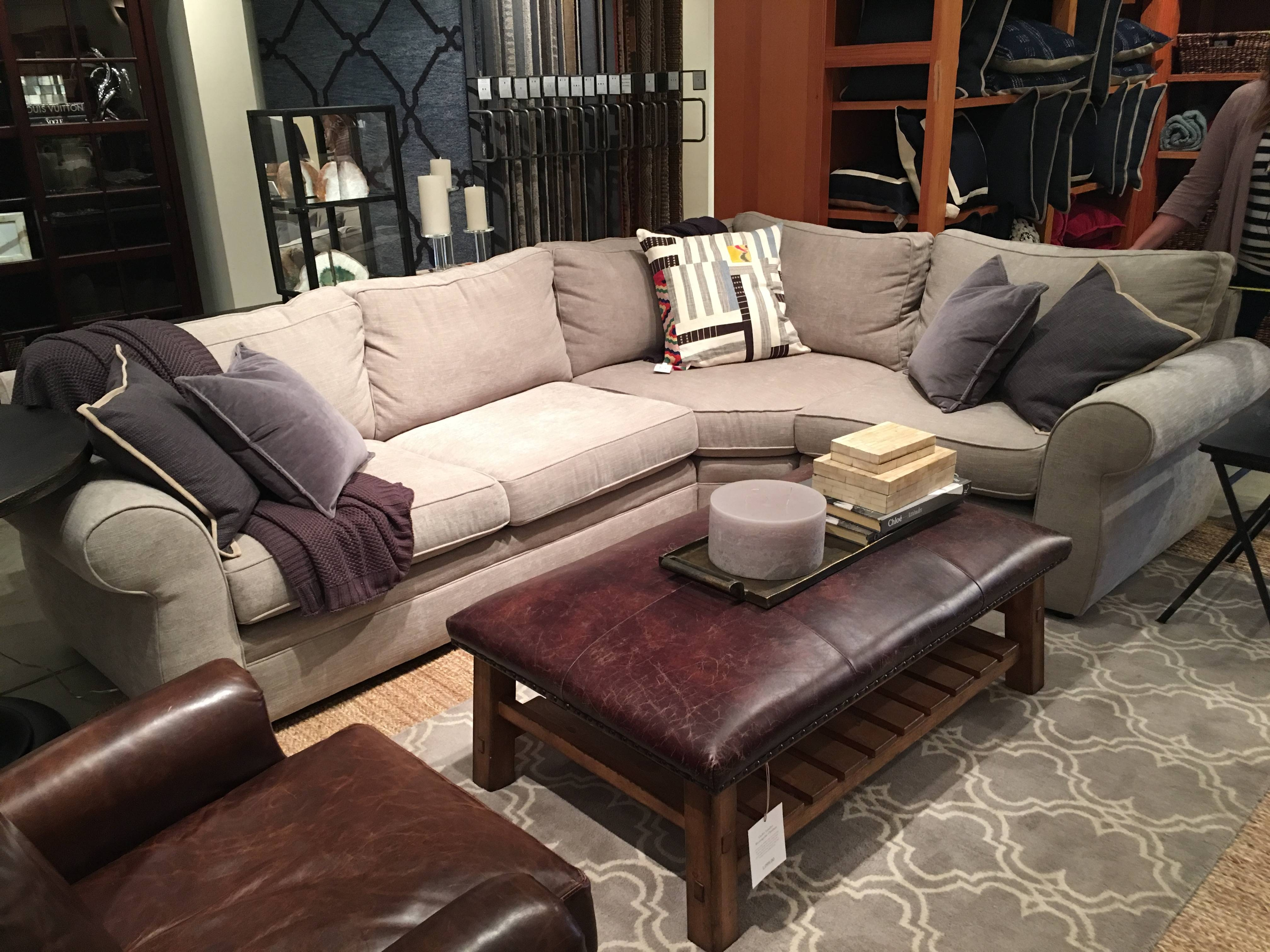 Furniture: Pottery Barn Sectional To Create Your Perfect Seating throughout Comfy Sectional Sofa (Image 21 of 30)