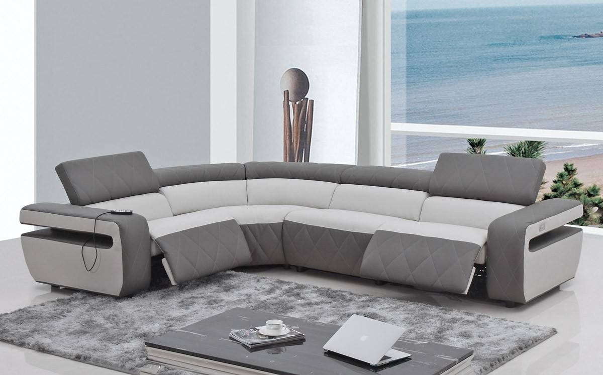 Furniture: Reclining Couch | Reclining Leather Couches | Sectional intended for Modern Reclining Leather Sofas (Image 10 of 30)
