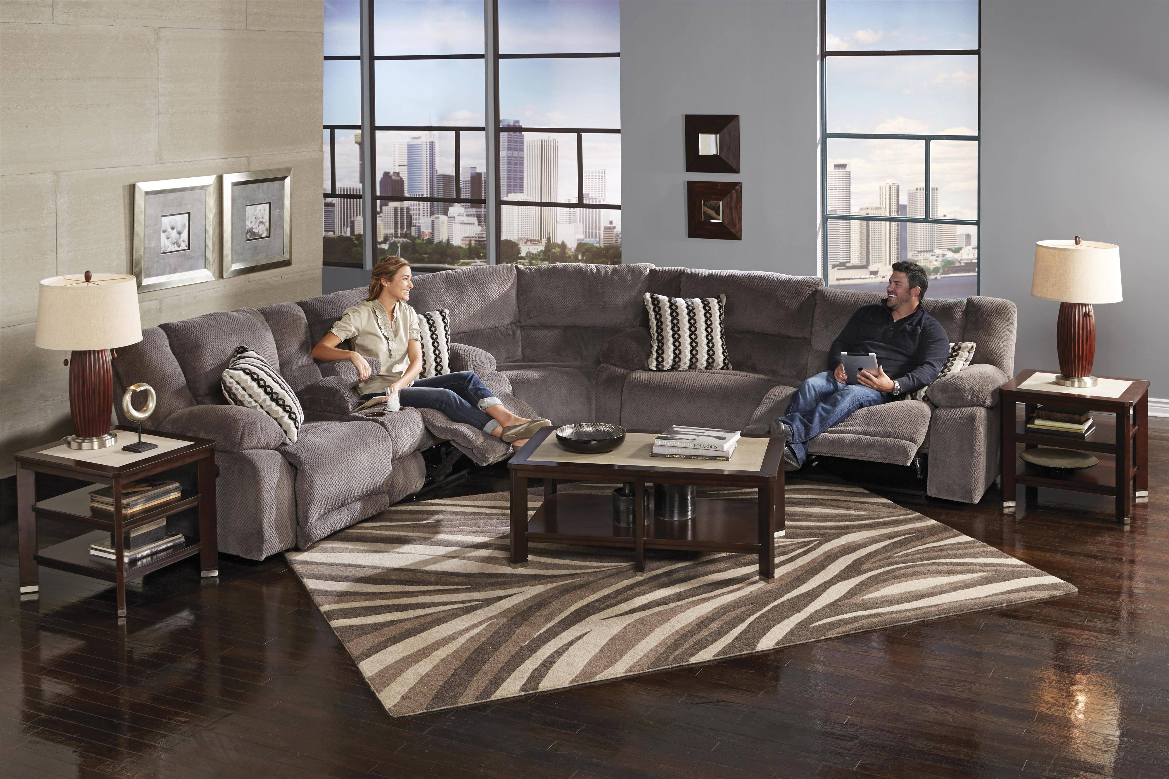 Furniture: Reclining Sectional Sofas For Small Spaces | Reclining pertaining to Sectional Sofas For Small Spaces With Recliners (Image 12 of 30)