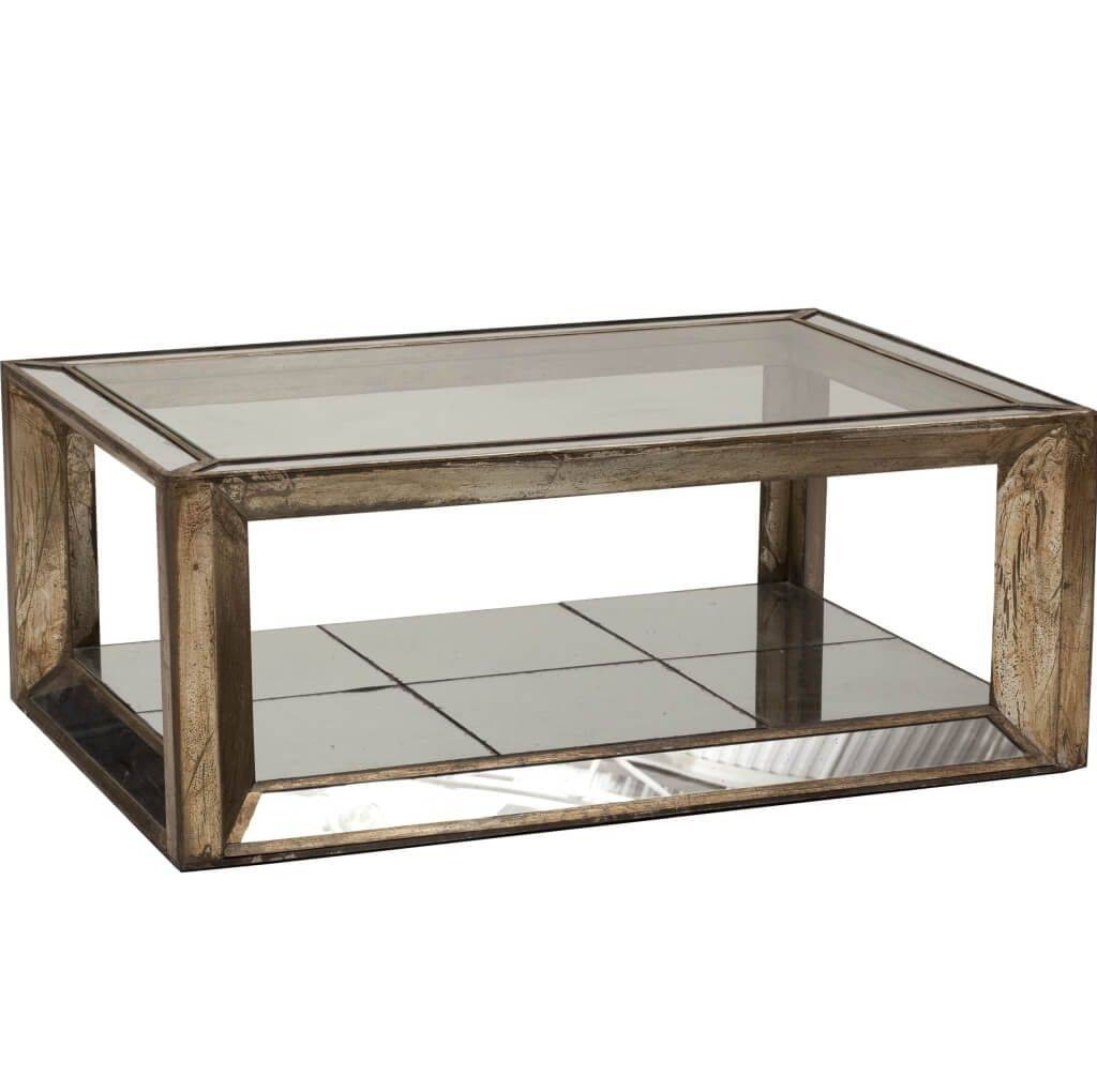 Furniture: Rectangle Mirrored Coffee Table With Wooden Beveled For Coffee Tables Mirrored (View 17 of 30)