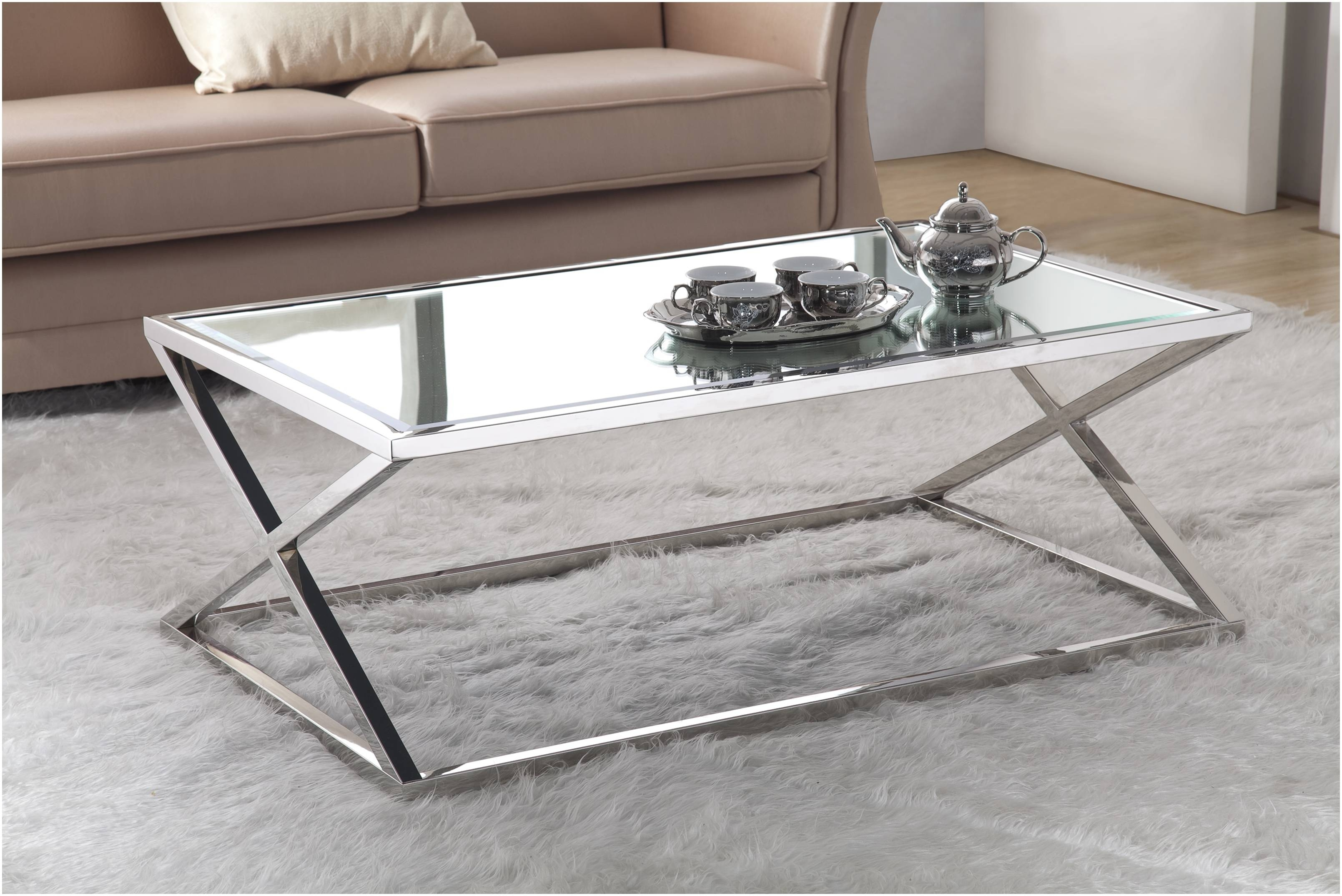 Furniture ~ Replace Glass Coffee Table Top With Wood Save A120 throughout Glass Chrome Coffee Tables (Image 12 of 30)