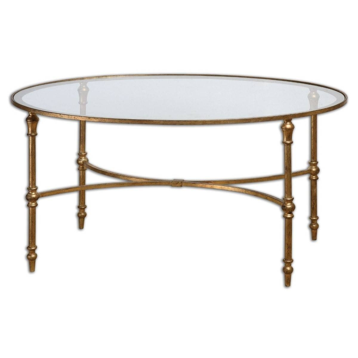 Furniture. Round Gold Coffee Table Ideas: Minimalist Modern Metal throughout Metal Coffee Tables With Glass Top (Image 14 of 31)