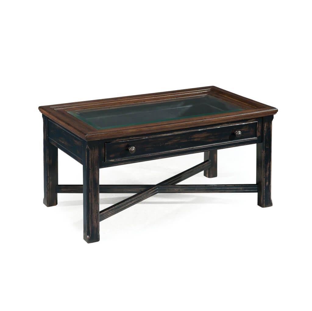 Furniture: Rustic Black Weathered Look Small Coffee Tables With for Oval Black Glass Coffee Tables (Image 18 of 30)