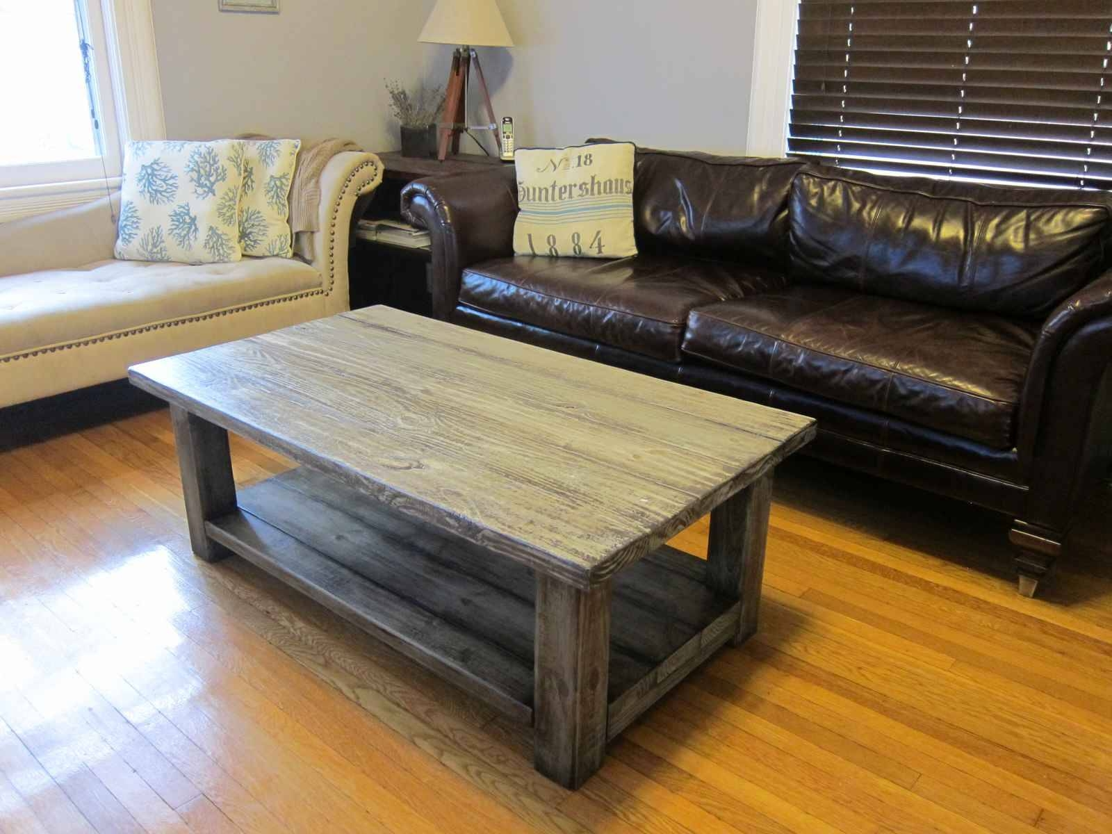 Furniture: Rustic Coffee Table On Wheels | Wood And Glass Coffee with regard to Grey Coffee Table Sets (Image 17 of 30)