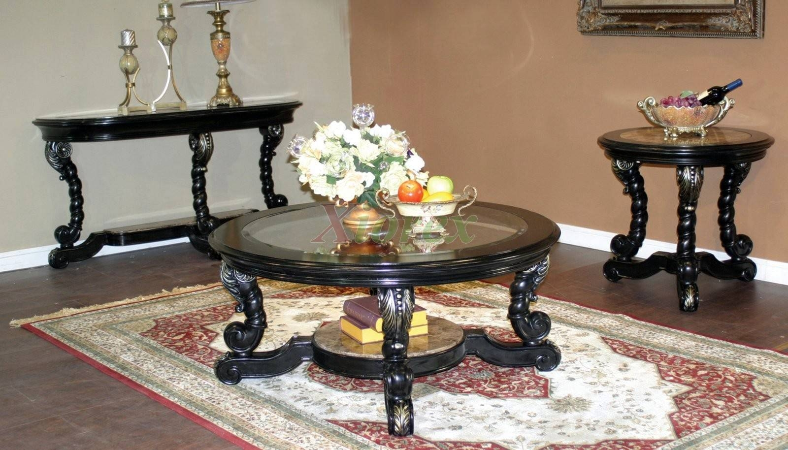 Furniture: Rustic End Table | Inexpensive Coffee Tables | Round with Coffee Table With Chairs (Image 26 of 30)