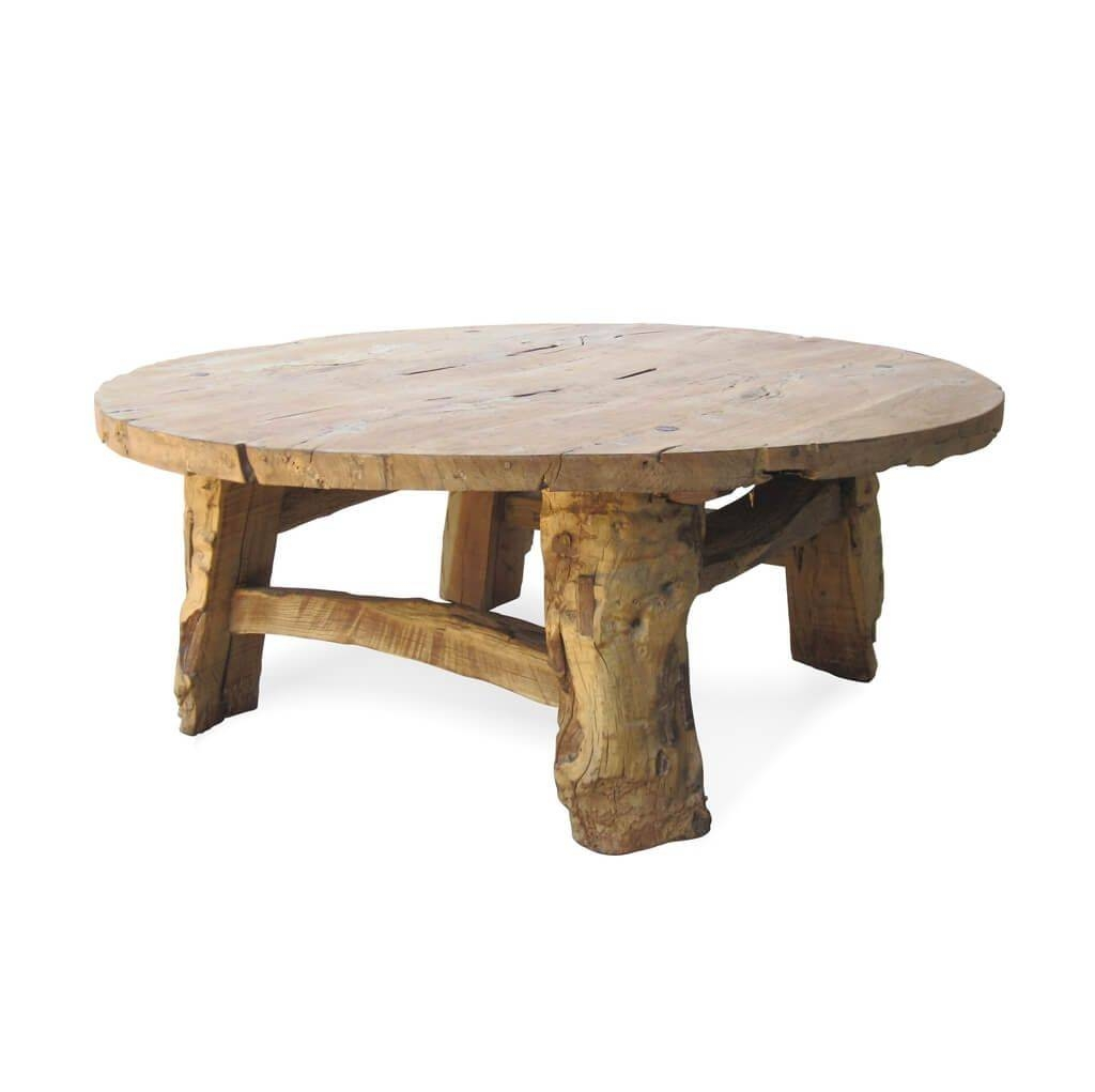 Furniture: Rustic Small Round Coffee Table For Rustic Living Room Inside Large Low Rustic Coffee Tables (View 9 of 30)