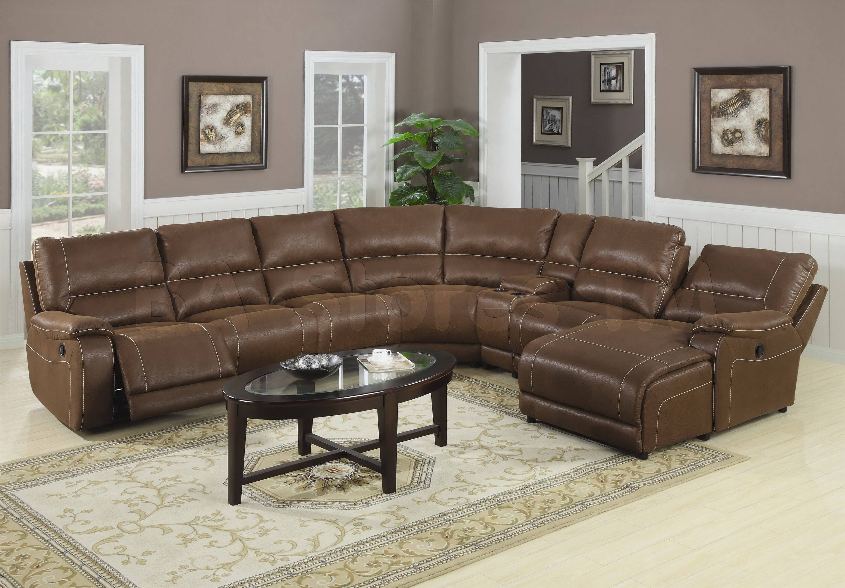 Furniture: Sectional Couches With Recliners | U Shaped Sectional For U  Shaped Leather Sectional Sofa