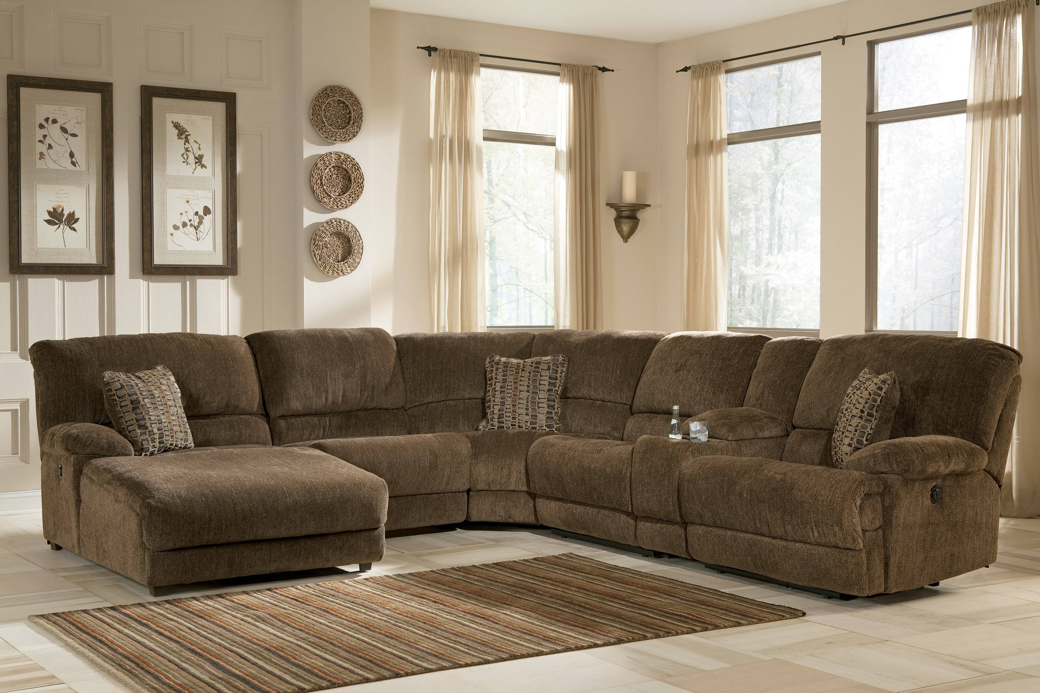 Furniture: Sectional Couches With Recliners | U Shaped Sectional inside Sectional Sofas With Electric Recliners (Image 16 of 30)