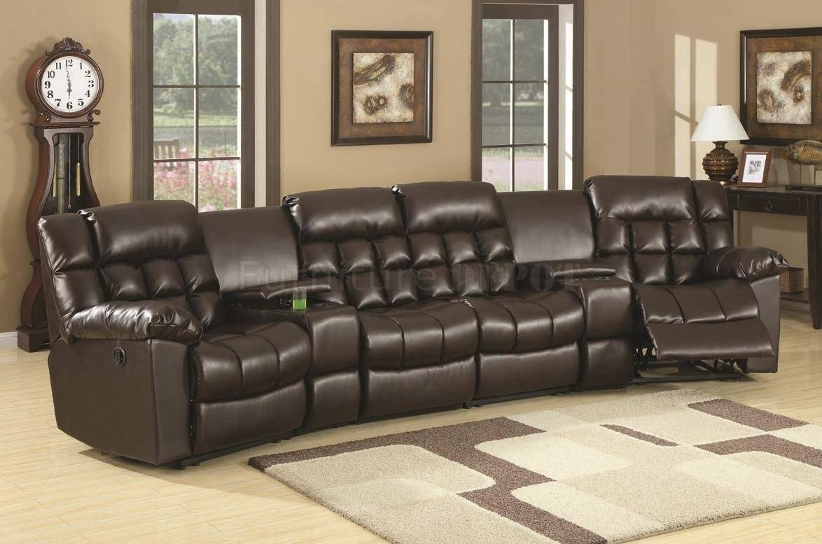 Furniture: Sectional Reclining Sofas | Reclining Leather Sectional inside Jedd Fabric Reclining Sectional Sofa (Image 17 of 30)