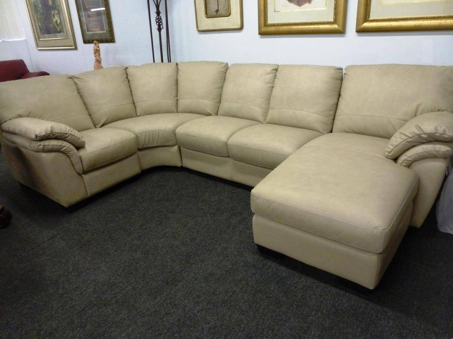 Furniture : Sectional Sofa With Oversized Ottoman. Modern within Sectional Sofa With Oversized Ottoman (Image 4 of 30)