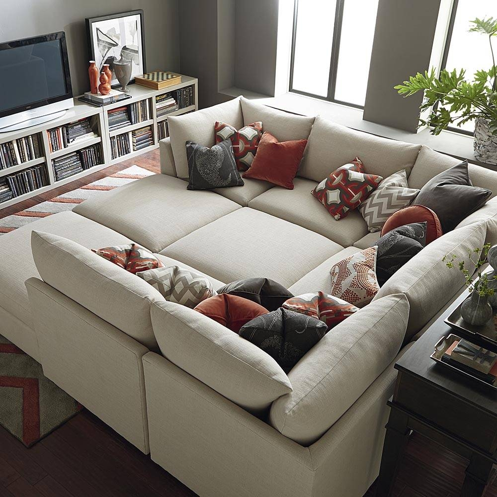Furniture: Sectional Sofas With Chaise Lounge And Gray Leather in Media Room Sectional Sofas (Image 8 of 25)