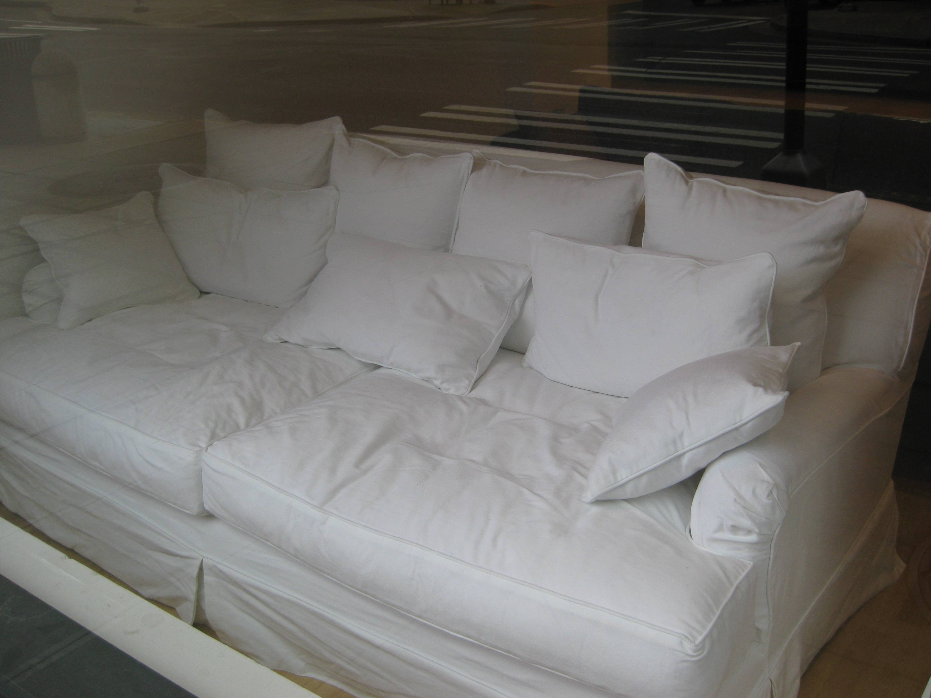 Furniture: Seep Seated Sofa For Comfortable Living Room Sofa Decor intended for Deep Cushioned Sofas (Image 23 of 30)