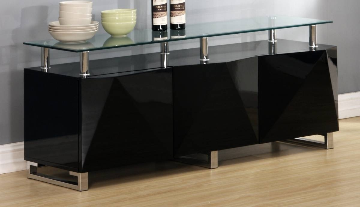 Featured Photo of High Gloss Black Sideboards