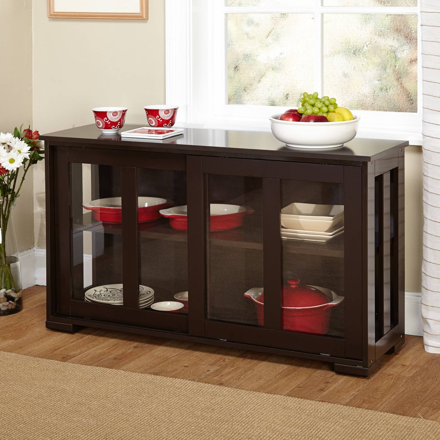 Furniture: Sideboard Buffet For Inspiring Interior Storage Design with Sideboards With Glass Doors (Image 8 of 30)