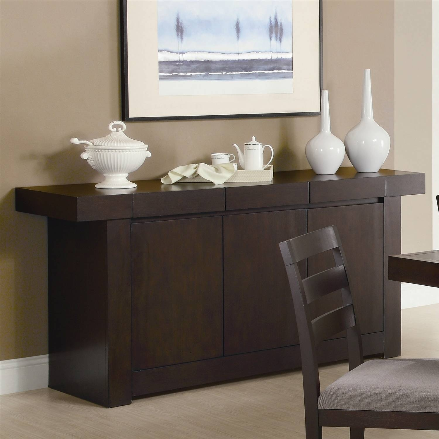 Furniture: Sideboards And Buffets Contemporary | Kitchen Buffet with Modern Contemporary Sideboards (Image 16 of 30)