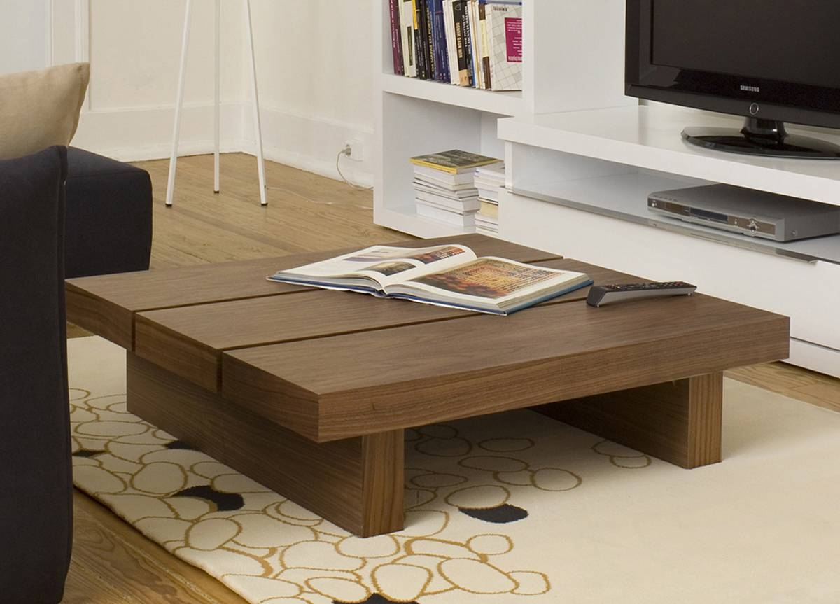 Furniture : Simple Extra Large Low Wooden Square Coffee Table On intended for Large Square Wood Coffee Tables (Image 10 of 30)