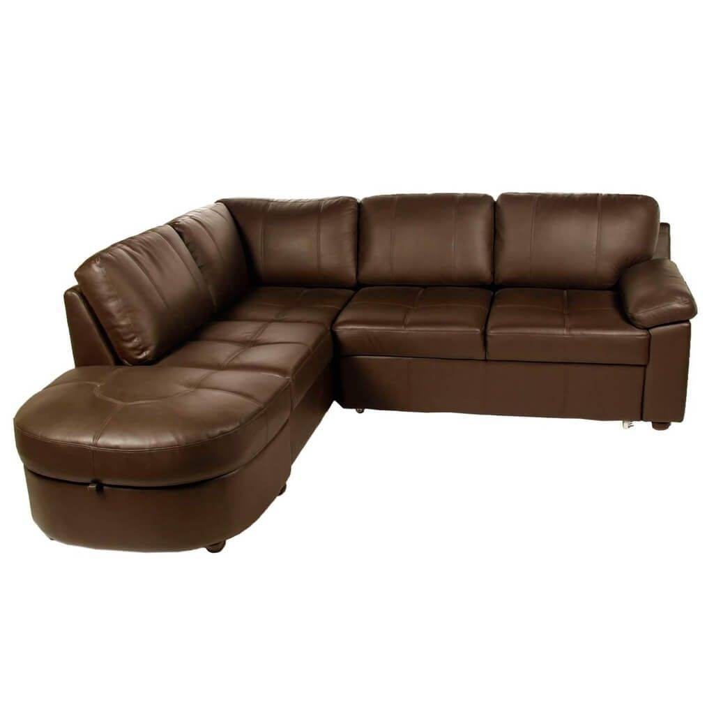 Furniture: Sky Tone Corner Sofa Bed With Storage Truffle - Corner in Leather Sofa Beds With Storage (Image 14 of 30)