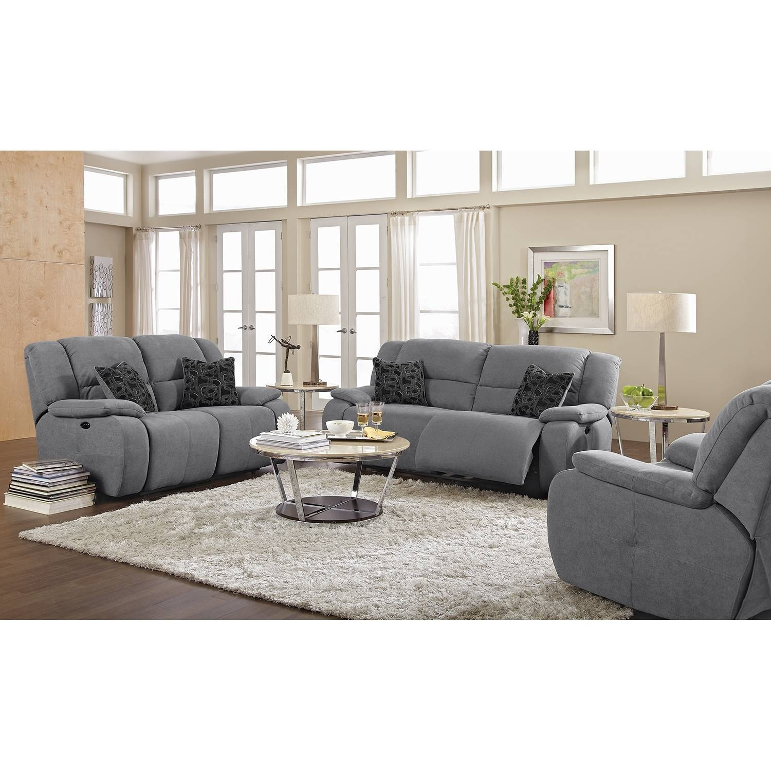 Furniture: Small Loveseat Sofa And Grey Loveseat inside Grey Sofa Chairs (Image 16 of 30)