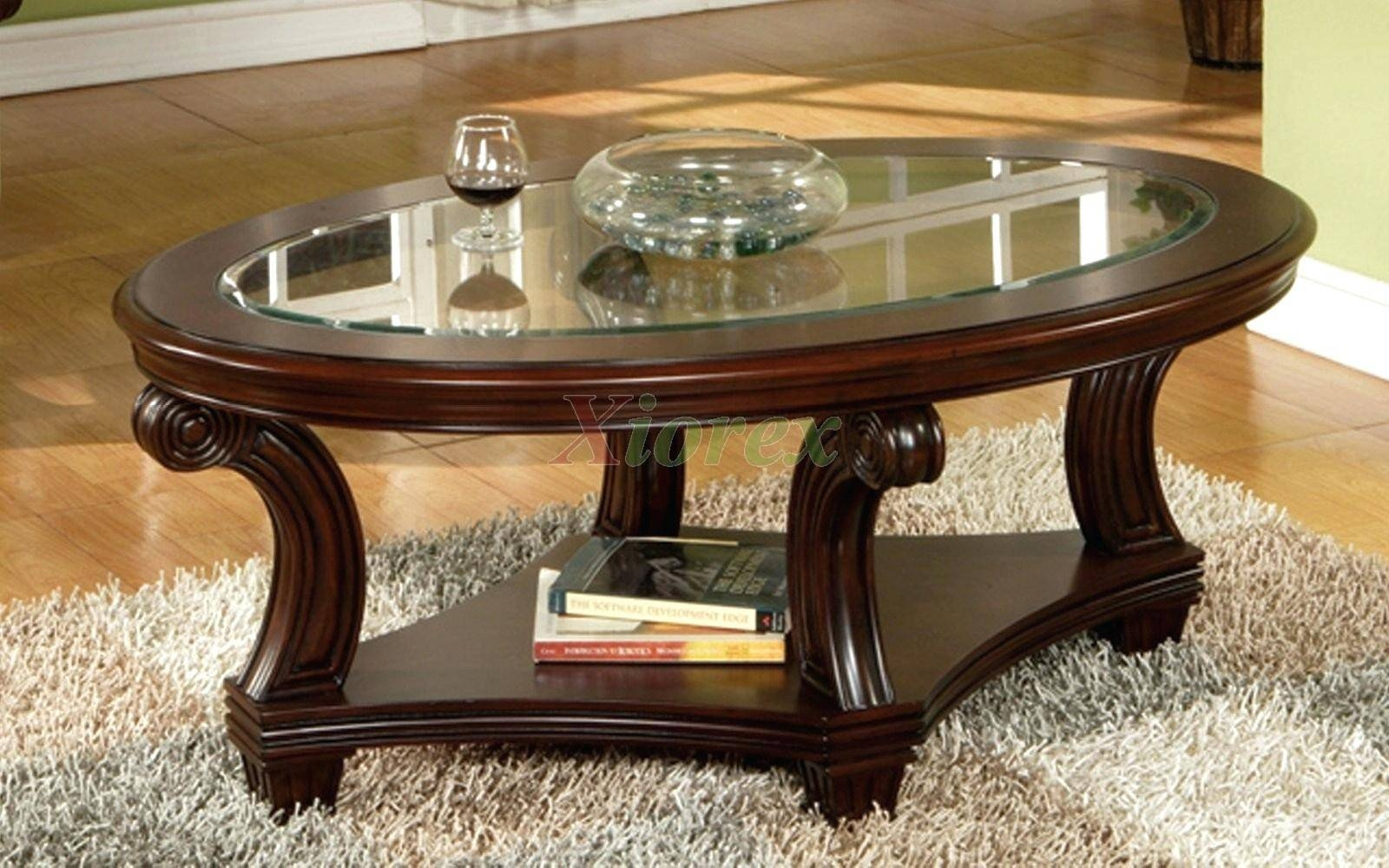 Furniture: Small Oval Coffee Table | Oval Glass Top Coffee Table pertaining to Oval Glass and Wood Coffee Tables (Image 20 of 30)