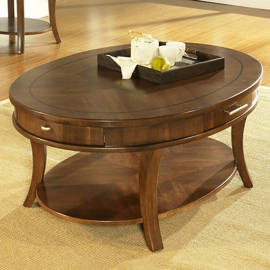 Furniture: Small Oval Coffee Table | Target Living Room Tables with regard to Round Coffee Tables With Drawers (Image 13 of 30)