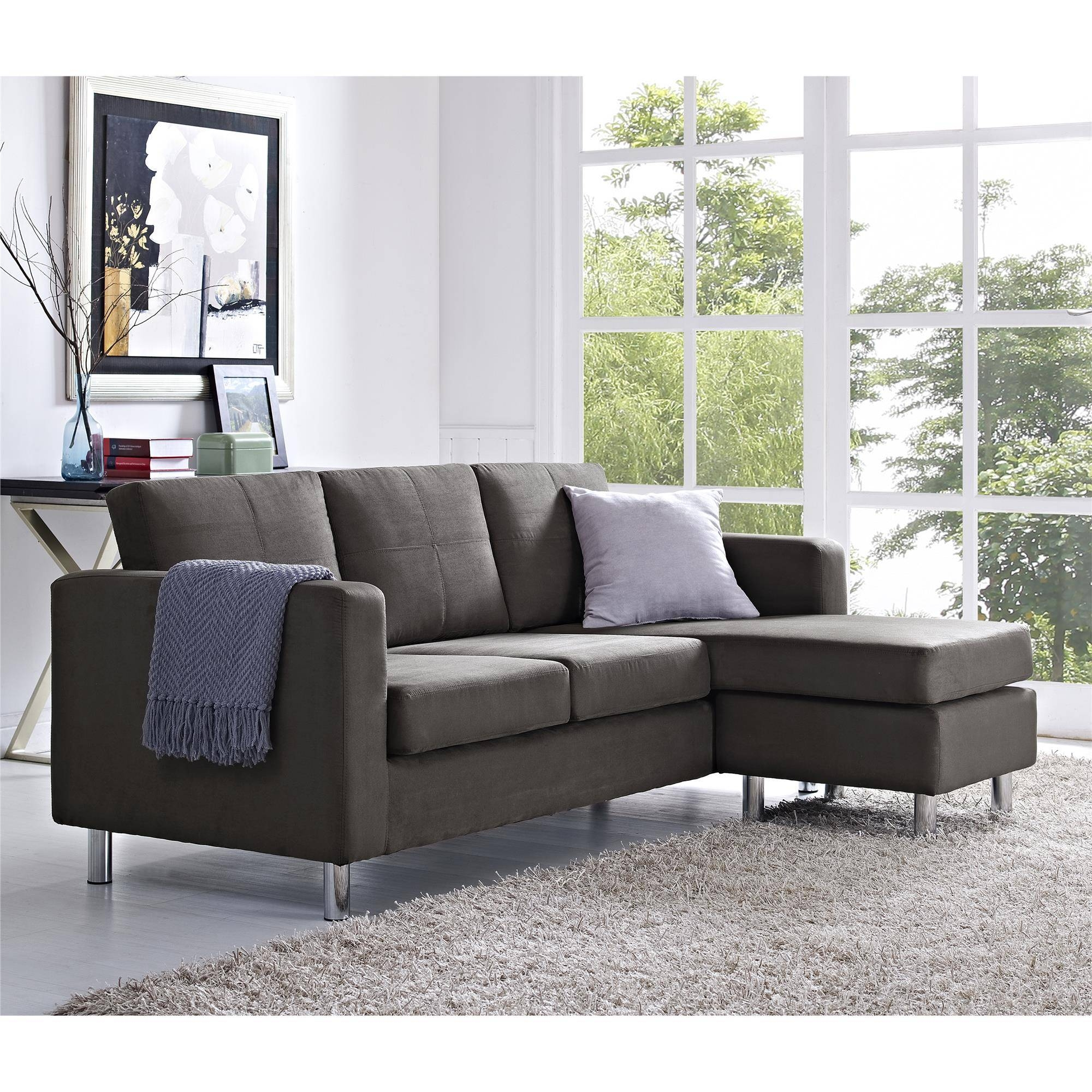 Furniture & Sofa: Perfect Small Spaces Configurable Sectional Sofa Pertaining To Apartment Sofa Sectional (Image 17 of 30)