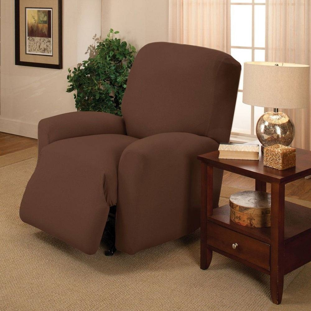 Furniture: Sofa Recliner Covers | Sherpa Recliner Cover | Wing with Chair Sofas (Image 8 of 30)