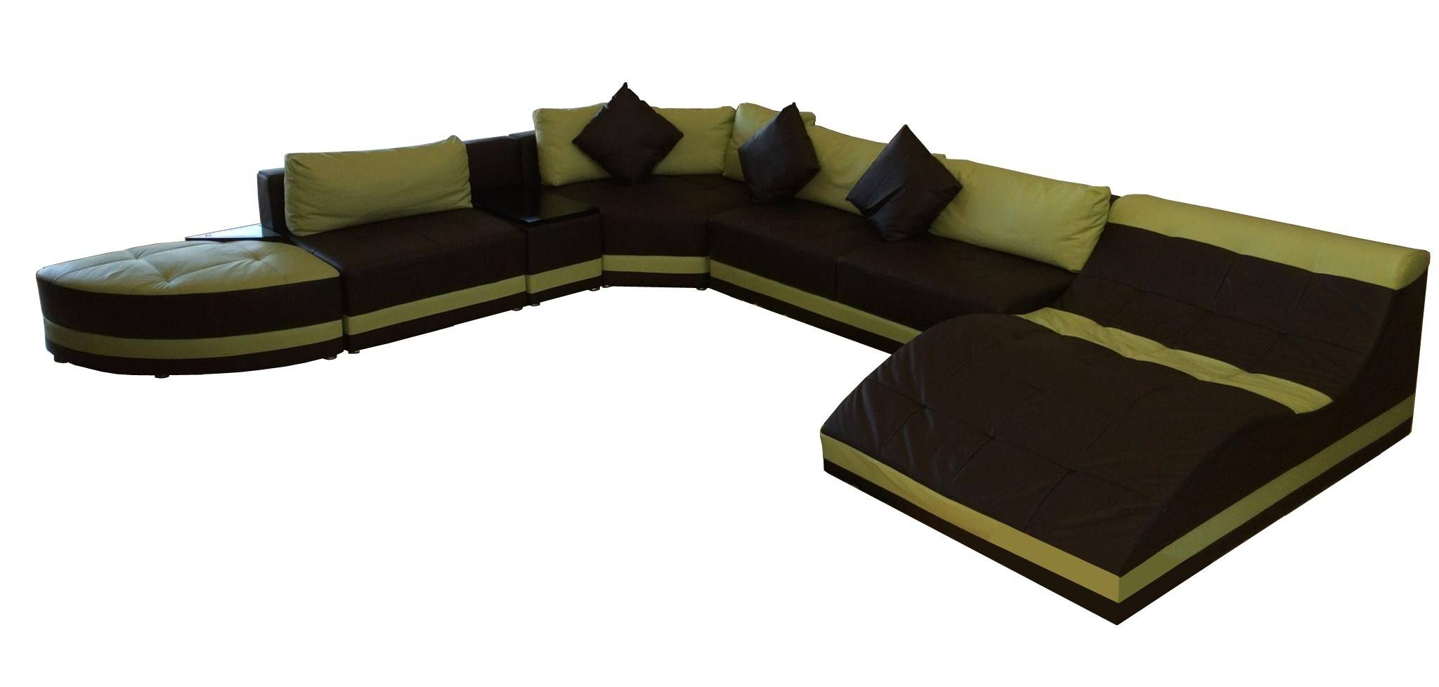 Furniture: Sofa Sectional Leather Sofa Leather Sectional Large with regard to Huge Sofas (Image 10 of 30)