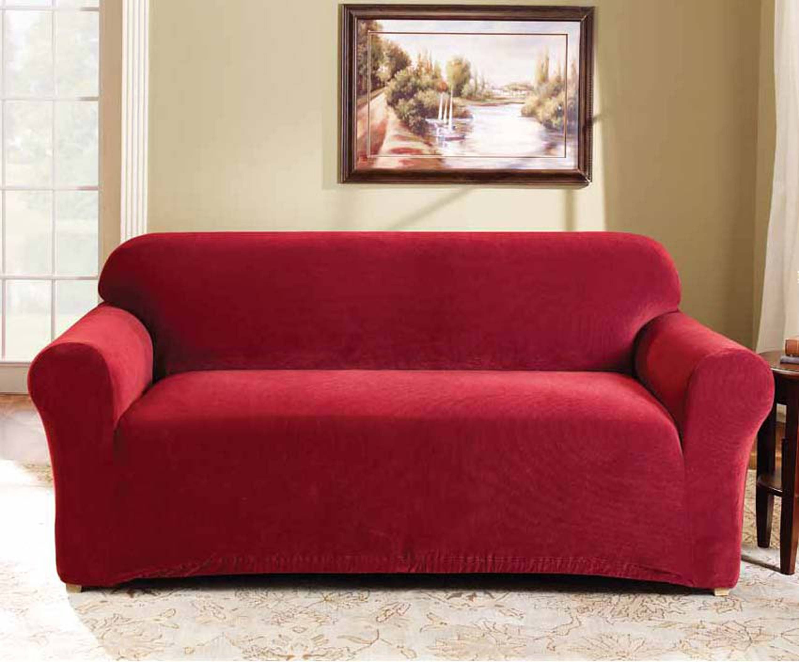 Furniture & Sofa: Stunning Sure Fit Sofa Covers Design For for Sofa And Chair Slipcovers (Image 6 of 15)